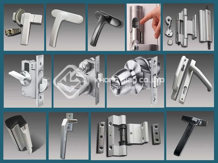 Các loại phụ kiến kính nhôm Xingfa trên thị trường