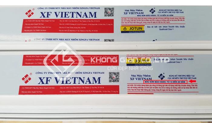 Nhôm Xingfa được sản xuất tại Việt Nam