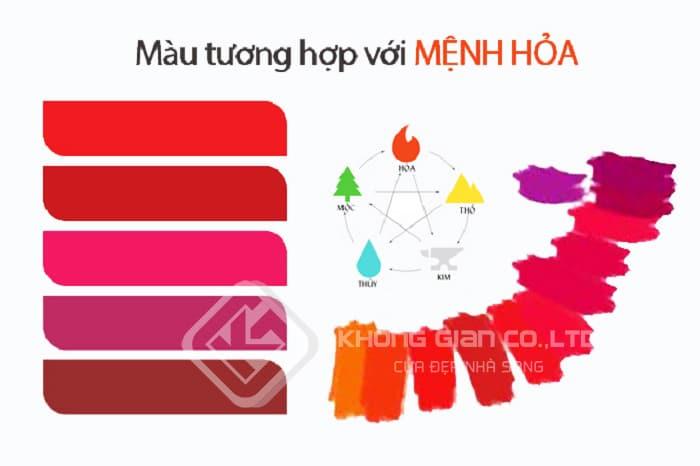 Màu đỏ là màu hợp mệnh hỏa nhất