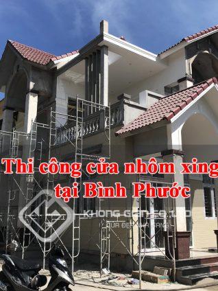 Dịch vụ lắp đặt cửa nhôm xingfa tại Bình Phước